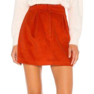 MAJORELLE - Judy Mini Skirt in Red Orange - NWT